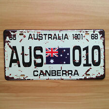 Decorative Novelty License Plate Tin Sign - Canberra Australia
