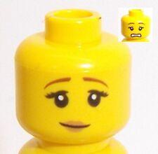 Lego Yellow Female Dual Sided Head x 1 Smile & Sad Face for Minifigure