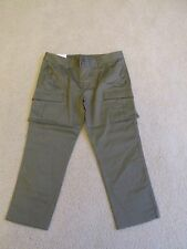 NEW WOMEN'S UNIQLO OLIVE GREEN LEGGING CAPRIS (CROPPED PANTS) SIZE 10 (33X23)