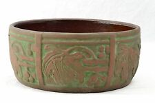 Peters and Reed Moss Aztec Leaf and Berries Fern Dish Bowl #415,1920's