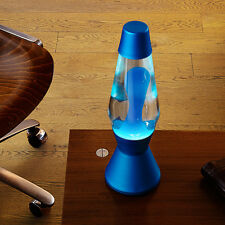 Mathmos Heritage Astro Lava Lamp Blue Finish with Blue / Clear Wax Bottle.