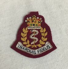 RAMC Officers Para Maroon Beret Badge, Embroidered, Army Medical Corps, Military