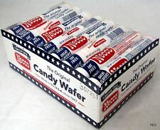 Necco Wafers Candy Box 24 Ct 2.02 oz Rolls Assorted Flavors Bulk Candies Wafer