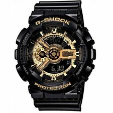 Casio G-Shock Men's GA110GB-1A Black and Gold Analog Digital XL Resin Watch