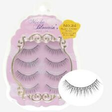 From JAPAN Miche Bloomin False eyelash 4pairs Regular line Nudy Cross Wing
