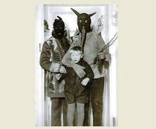 Vintage Creepy Family Halloween Hoods PHOTO Scary Costume Freak Kid Child Boy
