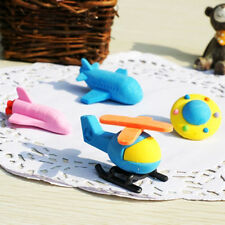 WACKY EDUCATIONAL eraser aircraft airplane plane helicopter rocket space shuttle