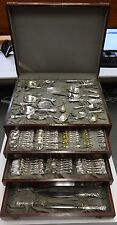 IRIS & NEW ART BY DURGIN STERLING SILVER FLATWARE SET SERVICE NOUVEAU 194 PIECES
