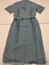 BNWT DAXON SIZE 12 PALE BLUE LADIES SHORT SLEEVE DRESS WITH MATCHING BELT 8U