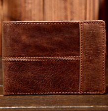 New Men's Genuine Leather Bifold Wallet Credit/ID Card Holder Slim Coin Purse A3