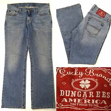 Women's LUCKY BRAND JEANS 30 X 33 Mid Rise Regular Distressed Cotton Spandex