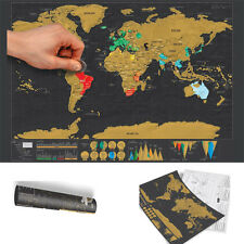 Deluxe Edition World Poster Scratch Off Map Travel Long DIY Christmas Gift Atlas
