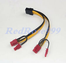 18AWG 6-pin to 2x 6+2-pin (6-pin/8-pin) Power Splitter Cable PCIE PCI Express