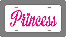 PRINCESS Car Tag with Script lettering License Plate Personalized customized