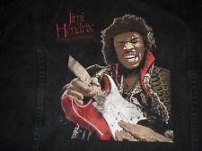 Vintage Jimi Hendrix Black Radio One Promo Jacket 1991 L Vg RARE
