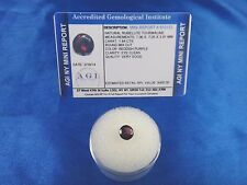Natural Red-Purple Rubellite Tourmaline Rd 1.64 Cts Certified App $400 AGI RT04