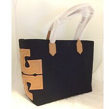 NEW*TORY BURCH CANVAS STACKED T EW TOTE 31397