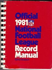 OFFICIAL 1981 NATIONAL FOOTBALL LEAGUE RECORD MANUAL - NFL