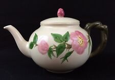 Vintage Early 80s Franciscan Desert Rose 5-Cup Teapot with Lid Made In U.S.A.
