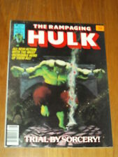 HULK THE RAMPAGING #4 FN+ (6.5) AUGUST 1977 MARVEL US MAGAZINE (B) ~
