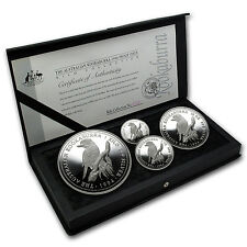 1994 Australia 4-Coin Silver Kookaburra Proof Set - SKU #83834