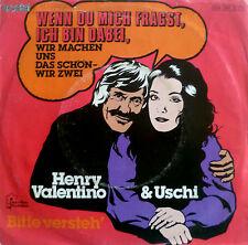 """7"""" HENRY VALENTINO & USCHI Wenn Du mich fragst ich bin dabei"""