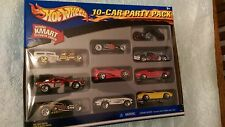 Hot Wheels 10-CAR EXCLUSIVE KMART PARTY PACK, 2002 Diecast 1:64