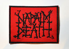 NAPALM DEATH METAL EMBROIDERED PATCH UNLEASHED SUFFOCATION MORBID ANGEL