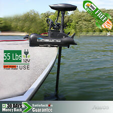 New & 12V 55 lbs Variable Speed Bow Mount Motor Electric Trolling Motor BLACK