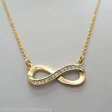 Gold Infinity Necklace - 925 Sterling Silver - Infinity Jewelry Forever *NEW*
