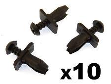 10x Ford Plastic Scrivet Trim Clips- Wheel Arch, For older models- Capri Sierra