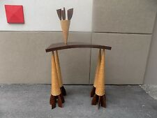 RARE WENDELL CASTLE STUDIO MADE WHIMSICAL CONSOLE TABLE SIGNED AND DATED 1986