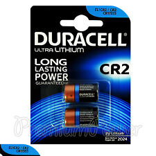 2 x Duracell Ultra Lithium CR2 3V batteries CR17355 EL1CR2 2 in Pack EXP:2024