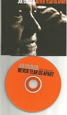 JOE COCKER Never tear us apart EUROPE PROMO DJ CD Single USA seller INXS REMAKE