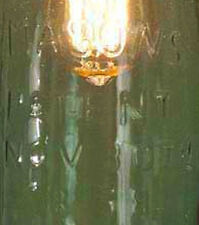 VIntage One Quart Mason Jar Open Bottom Industrial Pendant Light Lamp GLOBE ONLY