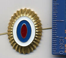RUSSIAN POLICE BADGE PIN MODERN OFFICER INSIGNIA HAT SMALL EMBLEM THREE COLOURED