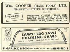 1953 E Garlick Afric Works Orange Street Sheffield Wm Cooper Weston St Ad