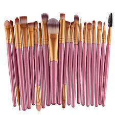 20 Pcs Pro Makeup Brushes Set Foundation Eyeshadow Eyeliner Lip Cosmetic Brushes