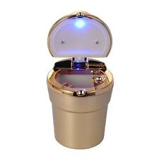 Gold Portable Car Auto Smokeless Cigarette Ash Ashtray Cup Holder with LED Light