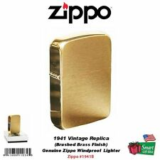 Zippo 1941 Vintage Replica Lighter, Brushed Brass, Genuine USA Windproof #1941B