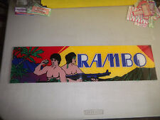 "RAMBO    24-6 1/4"" arcade game sign marquee  cF99"