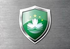 Macau flag shield sticker 3d effect quality 7 year water & fade proof