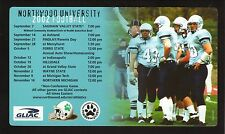 2002 Northwood Timberwolves Football Magnet Schedule