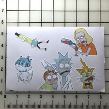 "Rick and Morty 5"" x 8""  Vinyl Decal Sticker Set"