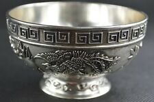 Antique collection, 100% Chinese manual sculpture, miao silver bowl