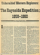 Yellowstone National Park -The Raynolds Expedition 1859