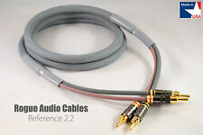 8ft. Pair ROGUE Audio Cables Reference 2.2 10ga 2x2 HANDMADE IN THE USA