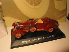 VOITURES CLASSIQUES HISPANO SUIZA H6C NIEWPORT DE 1925 SCALE 1/43