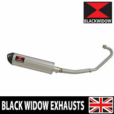 Honda CBF125 2008-2016 Exhaust System 400mm Stainless + Carbon Silencer 400ST