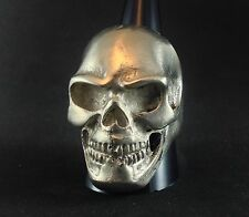 Mens Womens Silver Skull Pirate Statement Jewelry Ring Size US 10.5